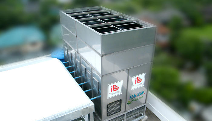 Fanless Evaporative Condenser Industrial Refrigeration, Freezing and Cold Storage Systems by ITC GROUP