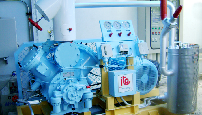 Package Reciprocating Compressor - Industrial Refrigeration, Freezing and Cold Storage Systems by ITC GROUP